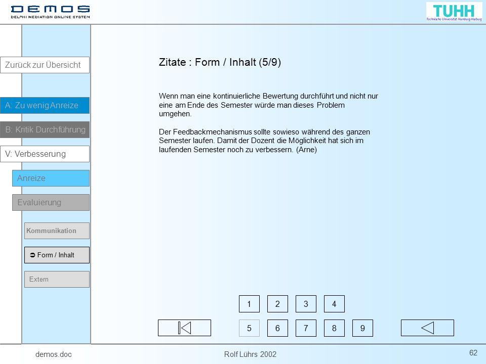 Zitate : Form / Inhalt (5/9)