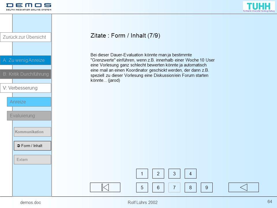 Zitate : Form / Inhalt (7/9)