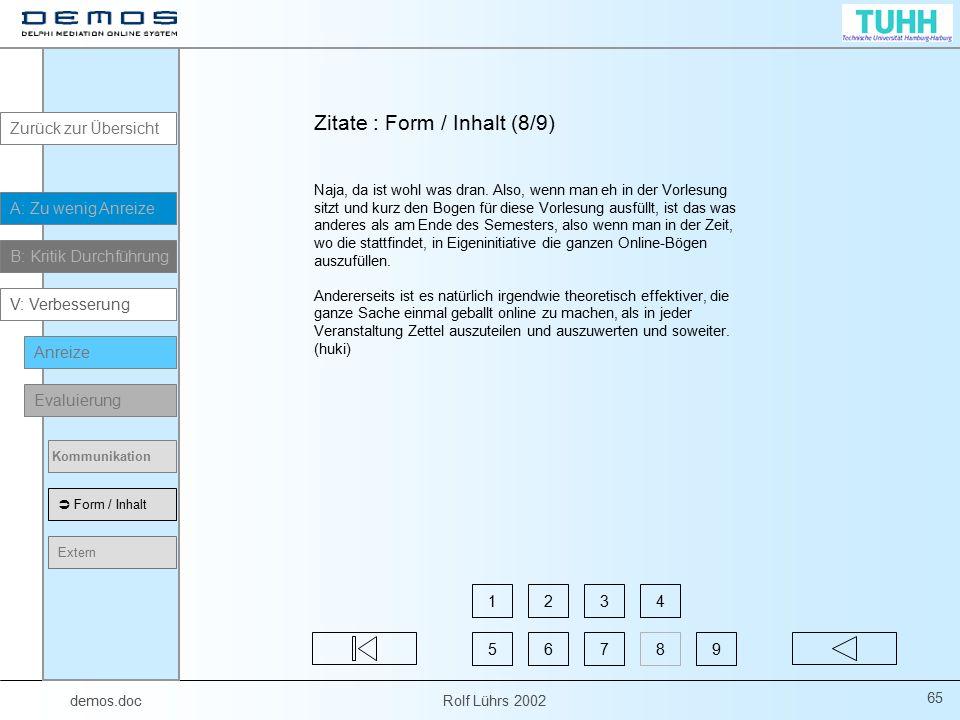 Zitate : Form / Inhalt (8/9)