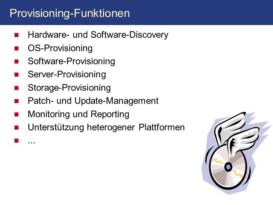 Provisioning-Funktionen