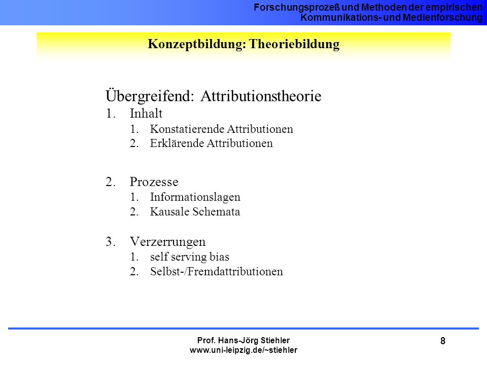 Konzeptbildung: Theoriebildung