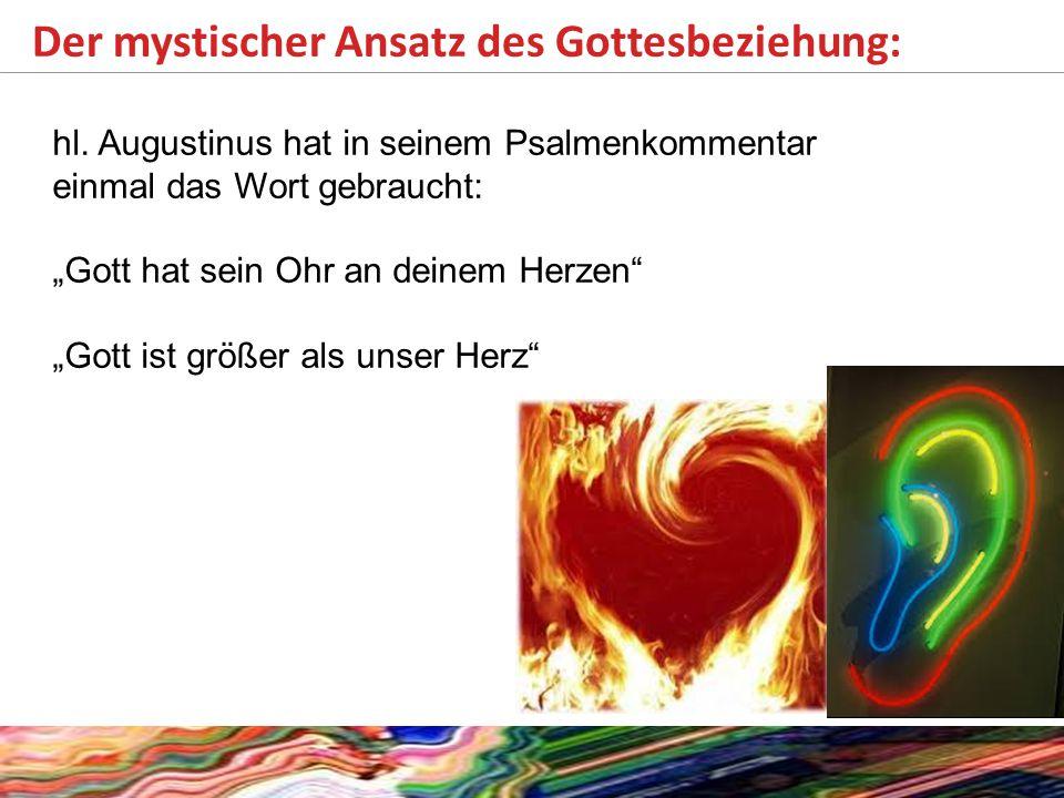 Der mystischer Ansatz des Gottesbeziehung: