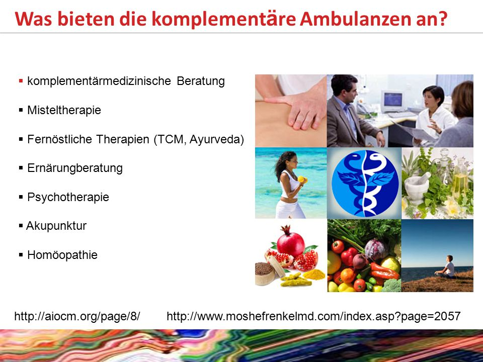 Was bieten die komplementäre Ambulanzen an