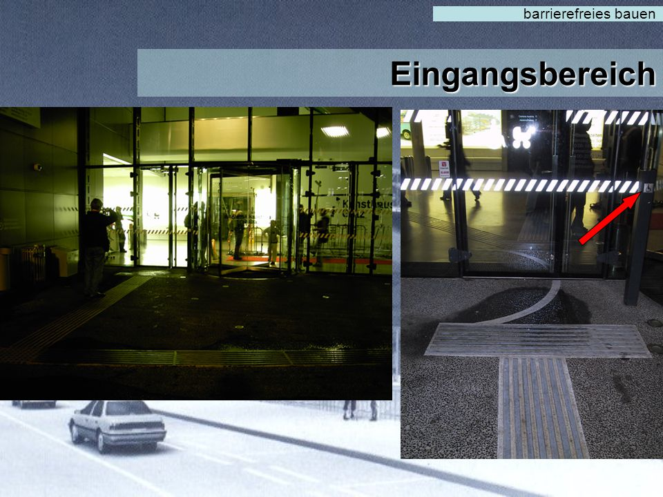 barrierefreies bauen Eingangsbereich