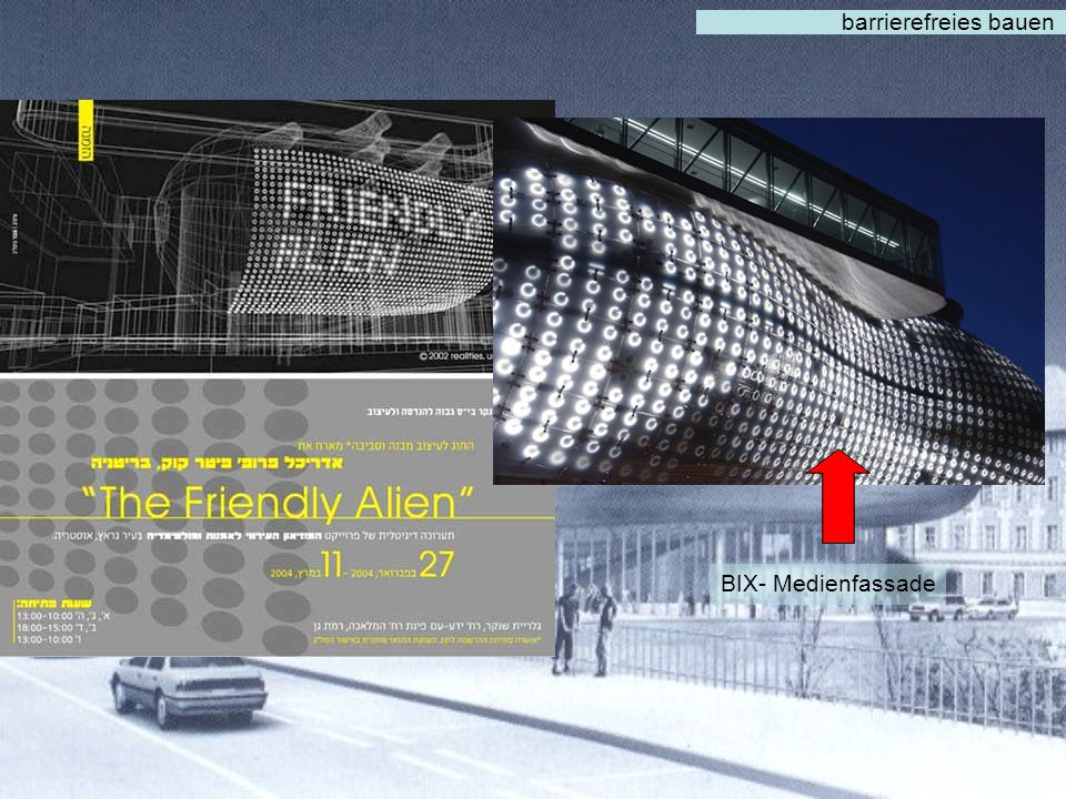 barrierefreies bauen BIX- Medienfassade