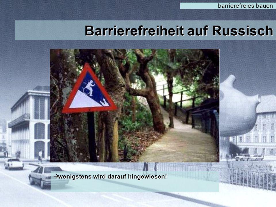 Barrierefreiheit auf Russisch