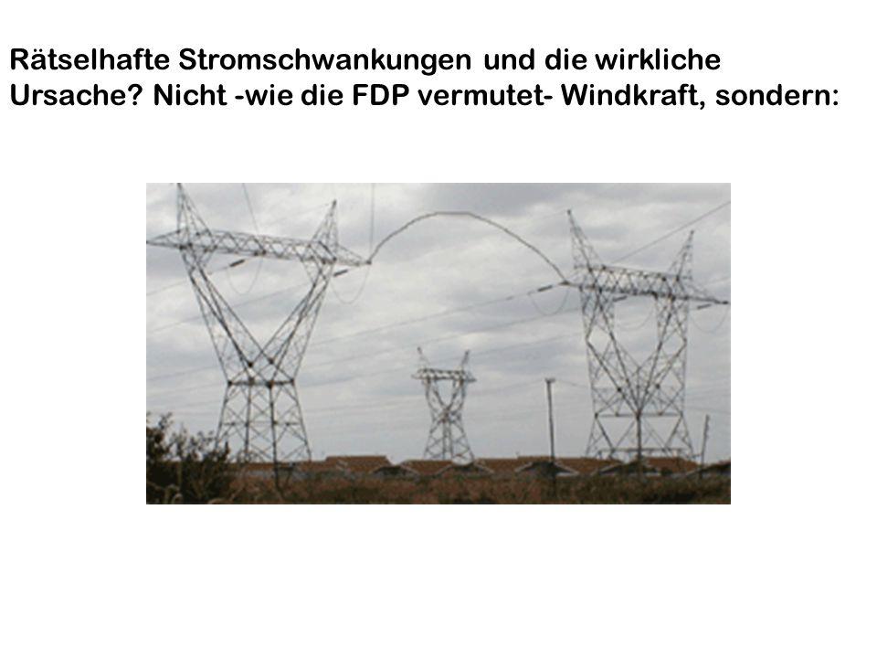 FDP und Windkraft Rätselhafte Stromschwankungen und die wirkliche
