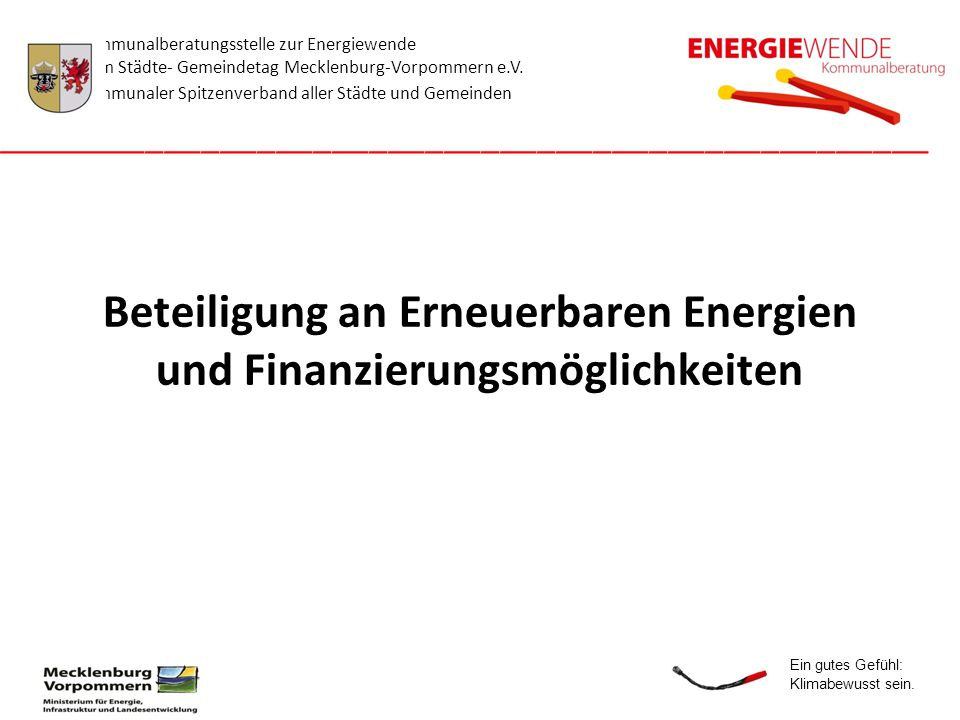 Beteiligung an Erneuerbaren Energien und Finanzierungsmöglichkeiten
