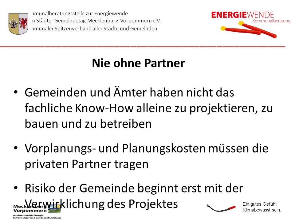 Vorplanungs- und Planungskosten müssen die privaten Partner tragen