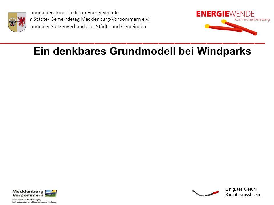 Ein denkbares Grundmodell bei Windparks