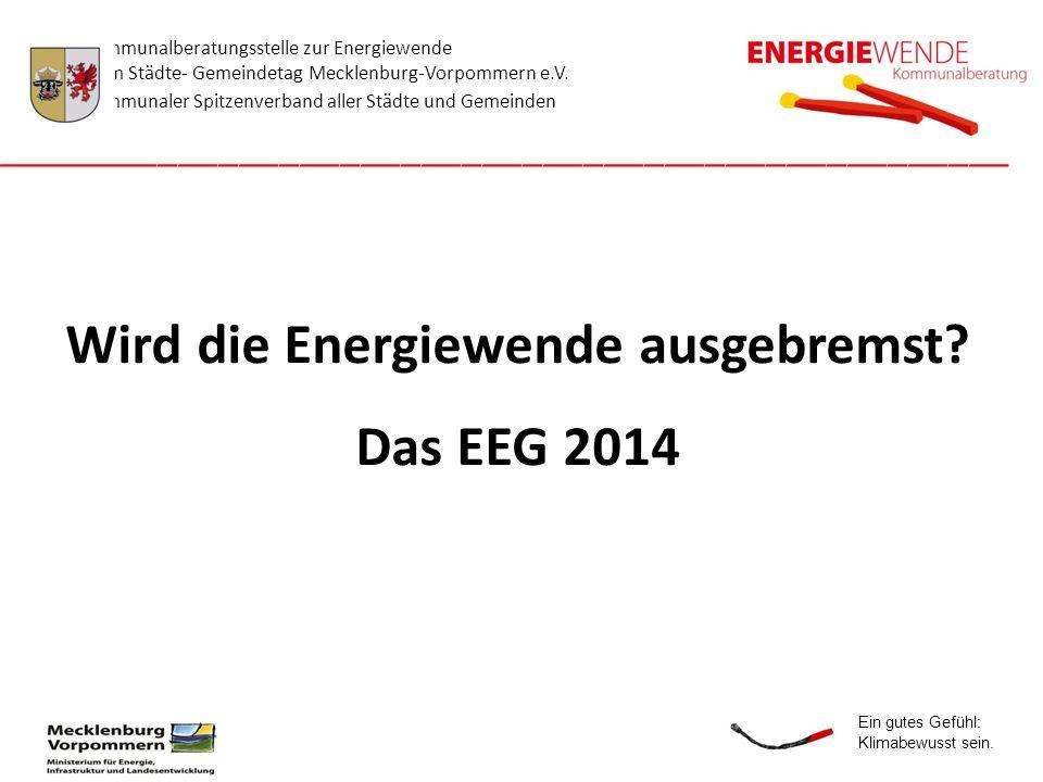 Wird die Energiewende ausgebremst