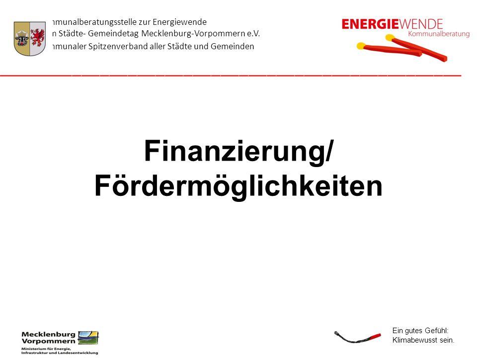 Finanzierung/ Fördermöglichkeiten