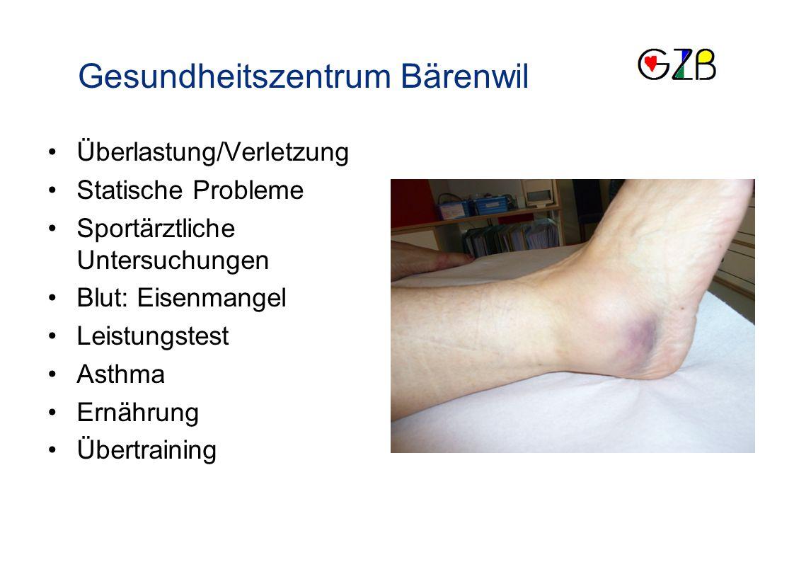 Schwerpunkte Gesundheitszentrum Bärenwil Überlastung/Verletzung