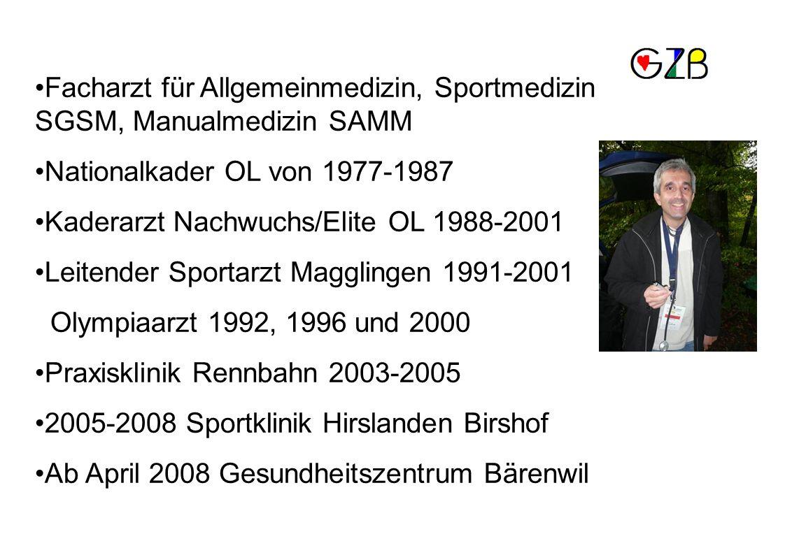 Facharzt für Allgemeinmedizin, Sportmedizin SGSM, Manualmedizin SAMM