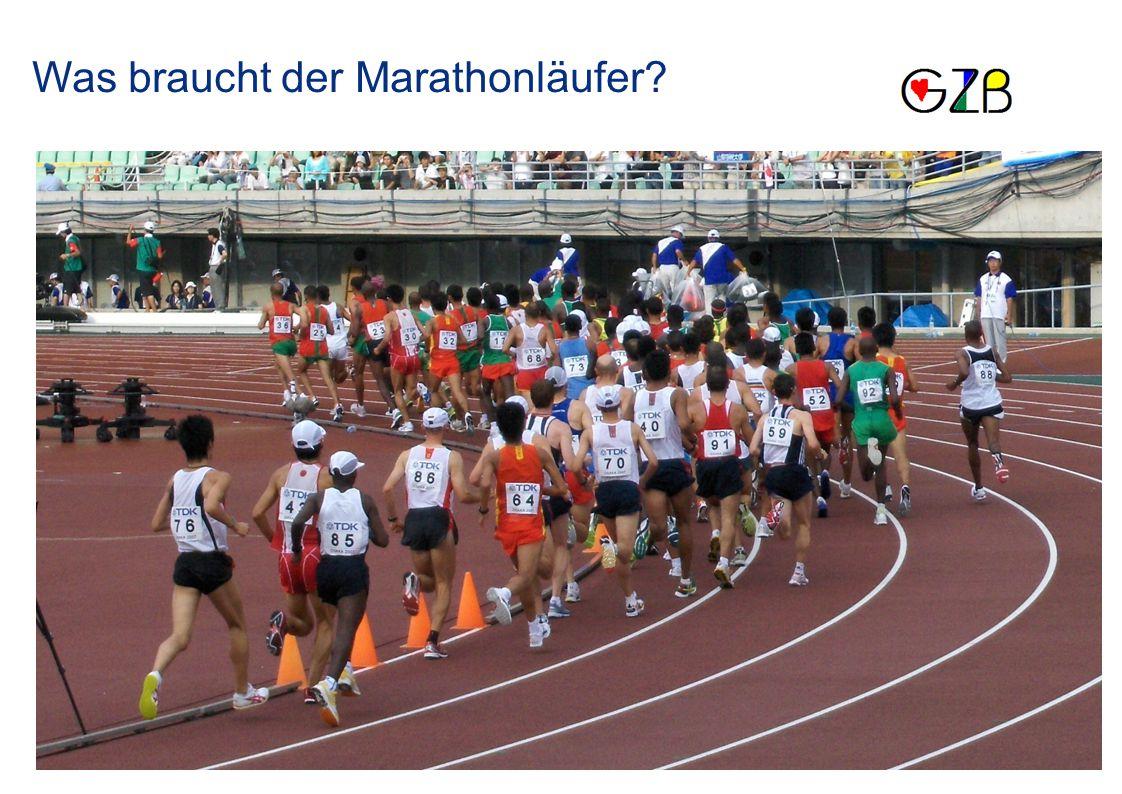 Was braucht der Marathonläufer