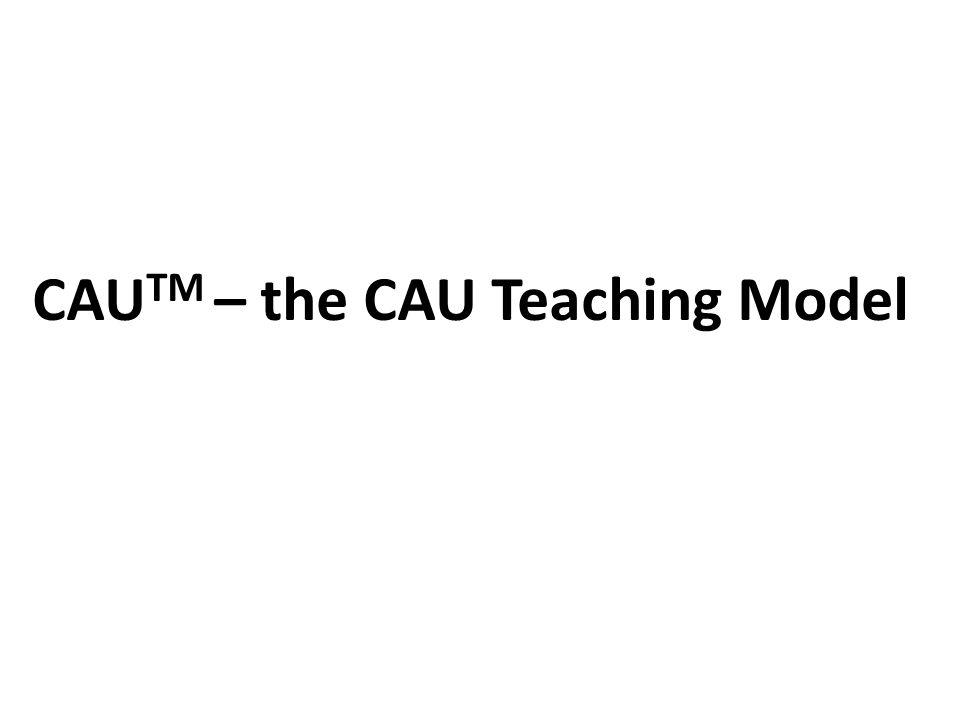 CAUTM – the CAU Teaching Model