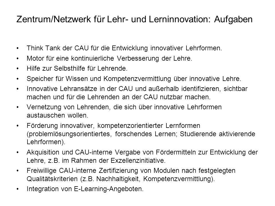 Zentrum/Netzwerk für Lehr- und Lerninnovation: Aufgaben