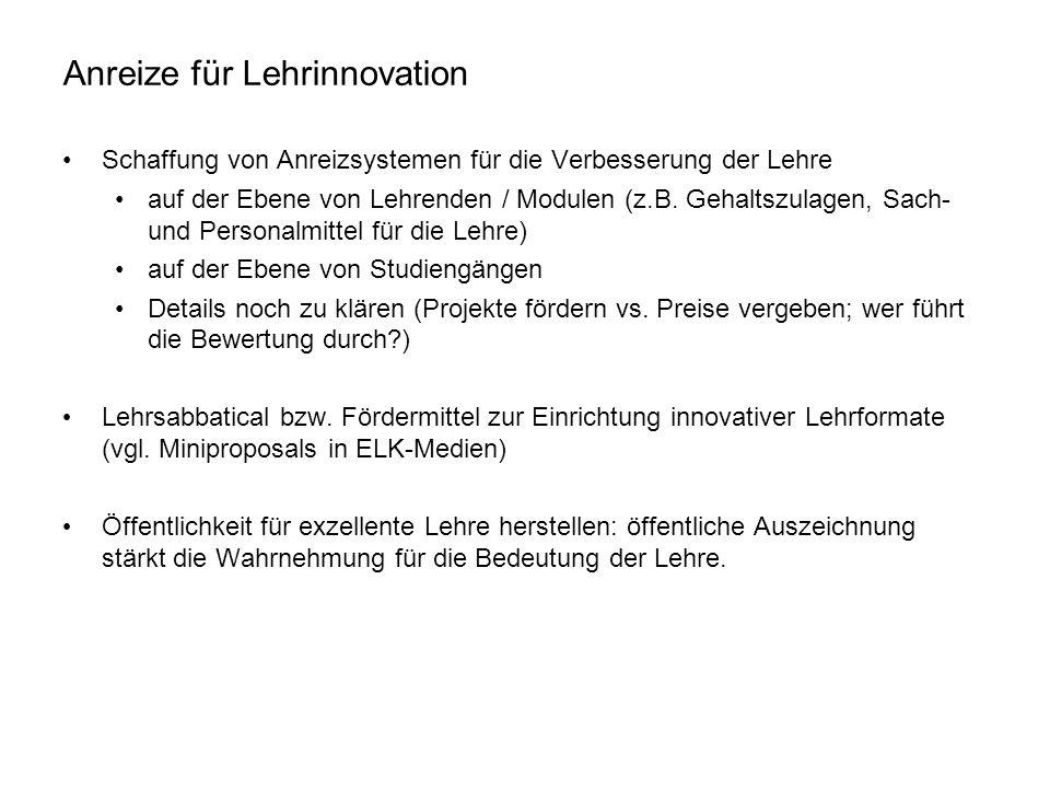 Anreize für Lehrinnovation