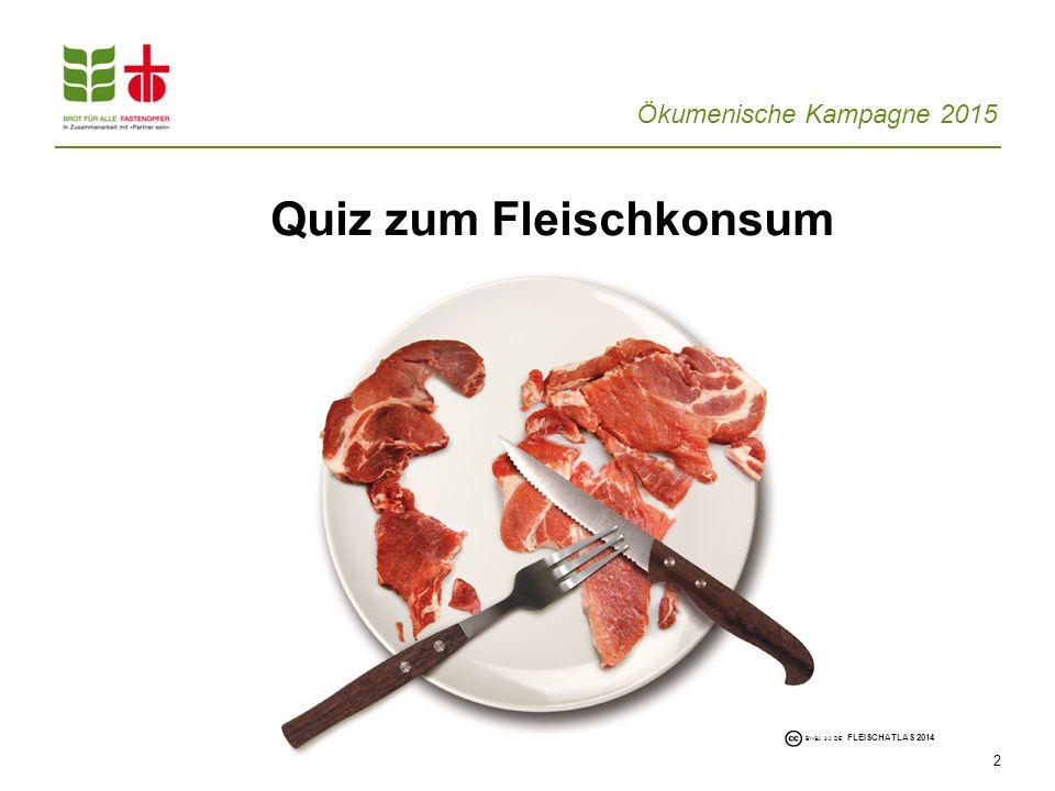 Quiz zum Fleischkonsum