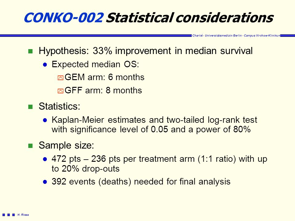 CONKO-002 Statistical considerations