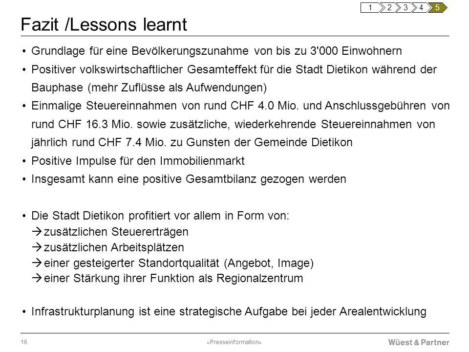 1 2. 3. 4. 5. Fazit /Lessons learnt. Grundlage für eine Bevölkerungszunahme von bis zu 3 000 Einwohnern.