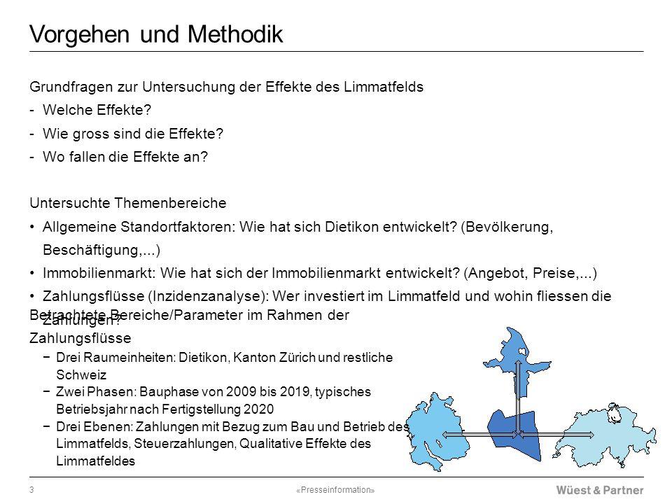 Vorgehen und Methodik Grundfragen zur Untersuchung der Effekte des Limmatfelds. Welche Effekte Wie gross sind die Effekte