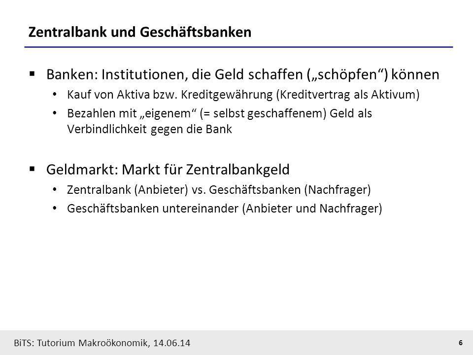 Zentralbank und Geschäftsbanken