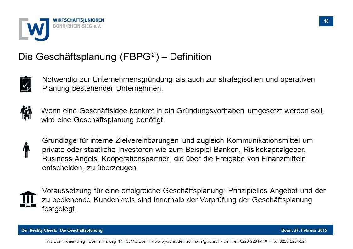 Die Geschäftsplanung (FBPG©) – Definition