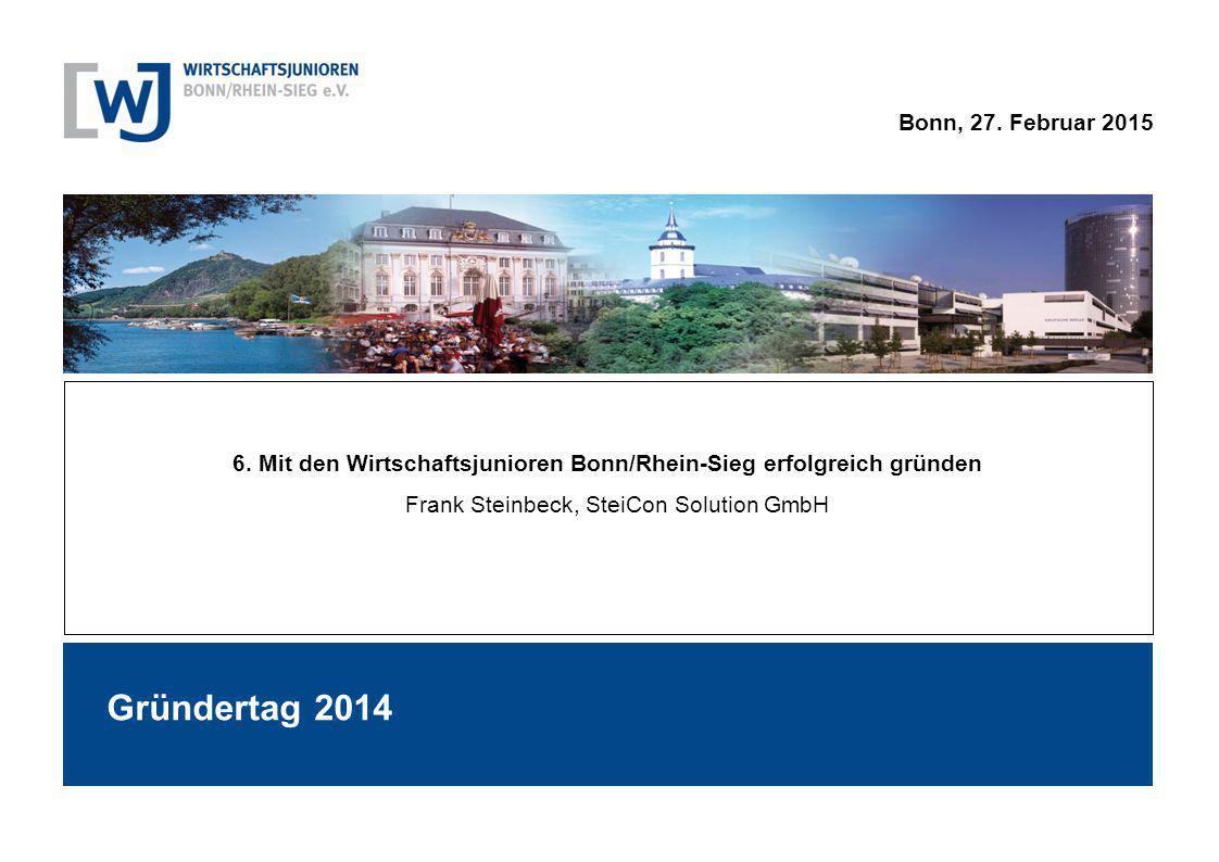 6. Mit den Wirtschaftsjunioren Bonn/Rhein-Sieg erfolgreich gründen