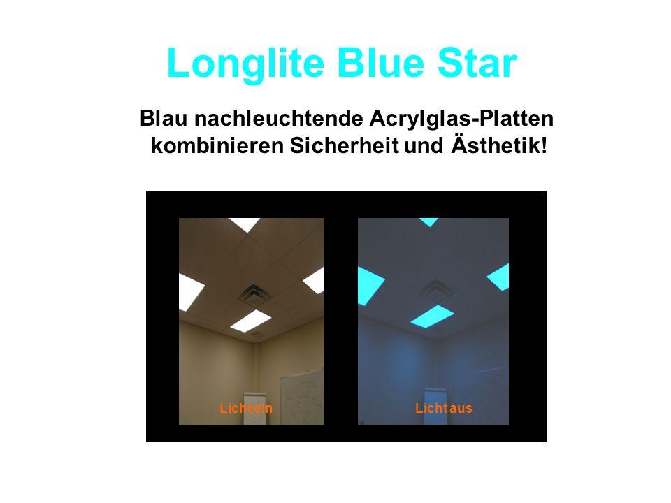 Longlite Blue Star Blau nachleuchtende Acrylglas-Platten