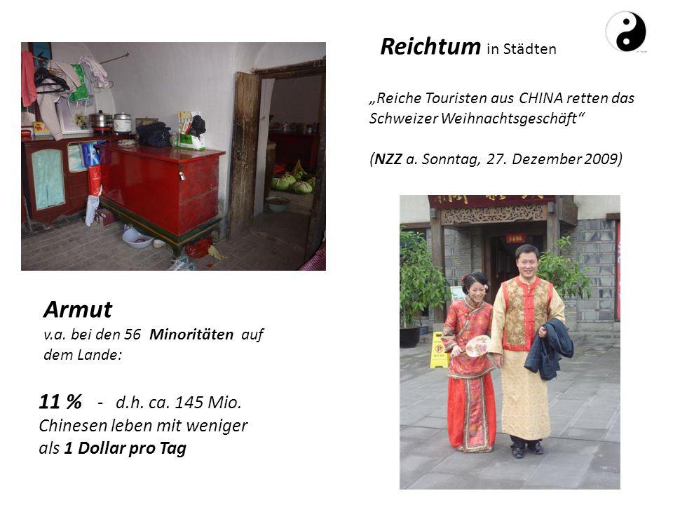 Reichtum in Städten Armut