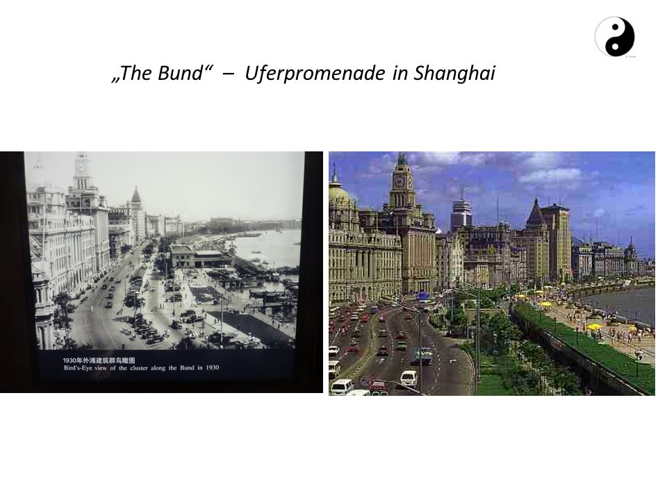"""The Bund – Uferpromenade in Shanghai"