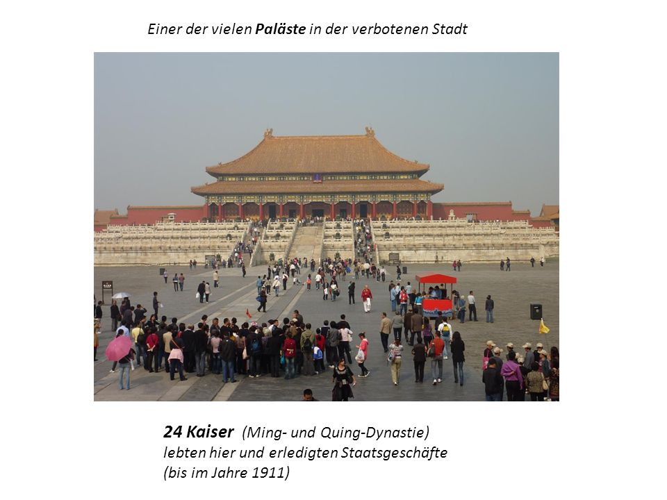 Einer der vielen Paläste in der verbotenen Stadt