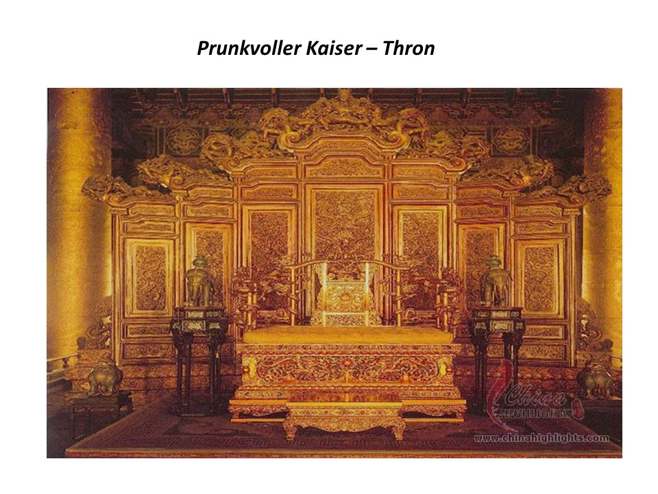 Prunkvoller Kaiser – Thron