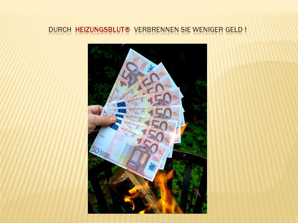Durch Heizungsblut® verbrennen Sie weniger Geld !