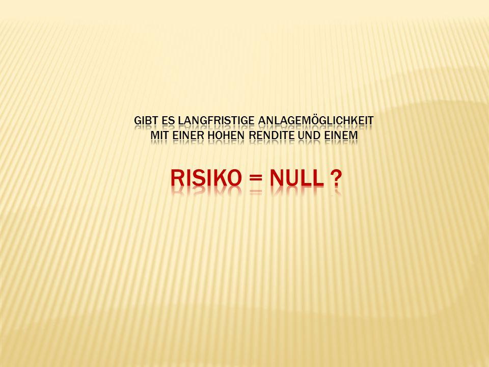 Risiko = NULL Gibt Es Langfristige Anlagemöglichkeit