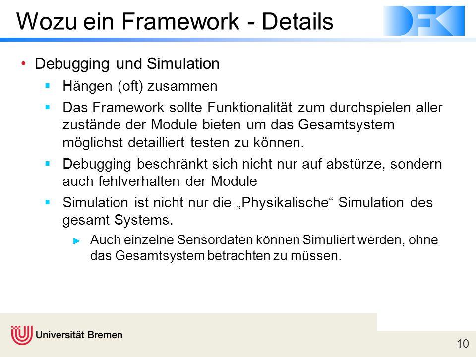 Wozu ein Framework - Details