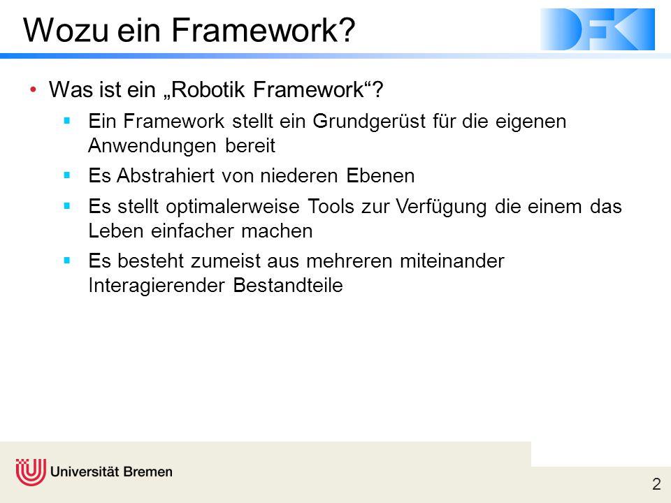 """Wozu ein Framework Was ist ein """"Robotik Framework"""