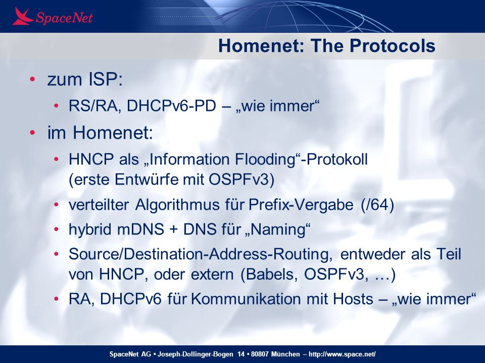 Homenet: The Protocols