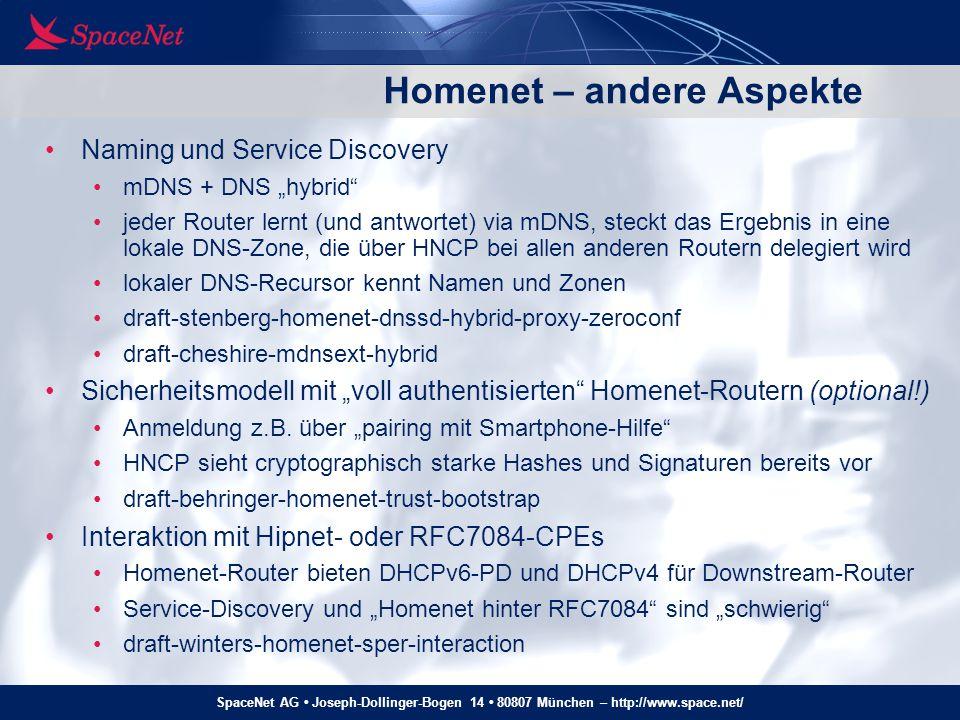 Homenet – andere Aspekte