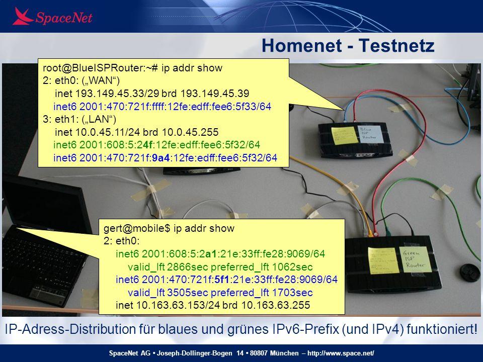 "Homenet - Testnetz root@BlueISPRouter:~# ip addr show. 2: eth0: (""WAN ) inet 193.149.45.33/29 brd 193.149.45.39."