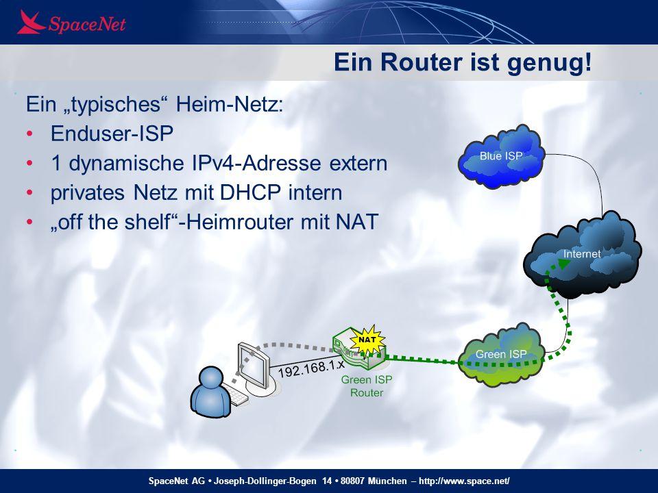 """Ein Router ist genug! Ein """"typisches Heim-Netz: Enduser-ISP"""