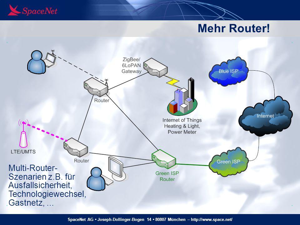 Mehr Router! Multi-Router- Szenarien z.B. für Ausfallsicherheit,