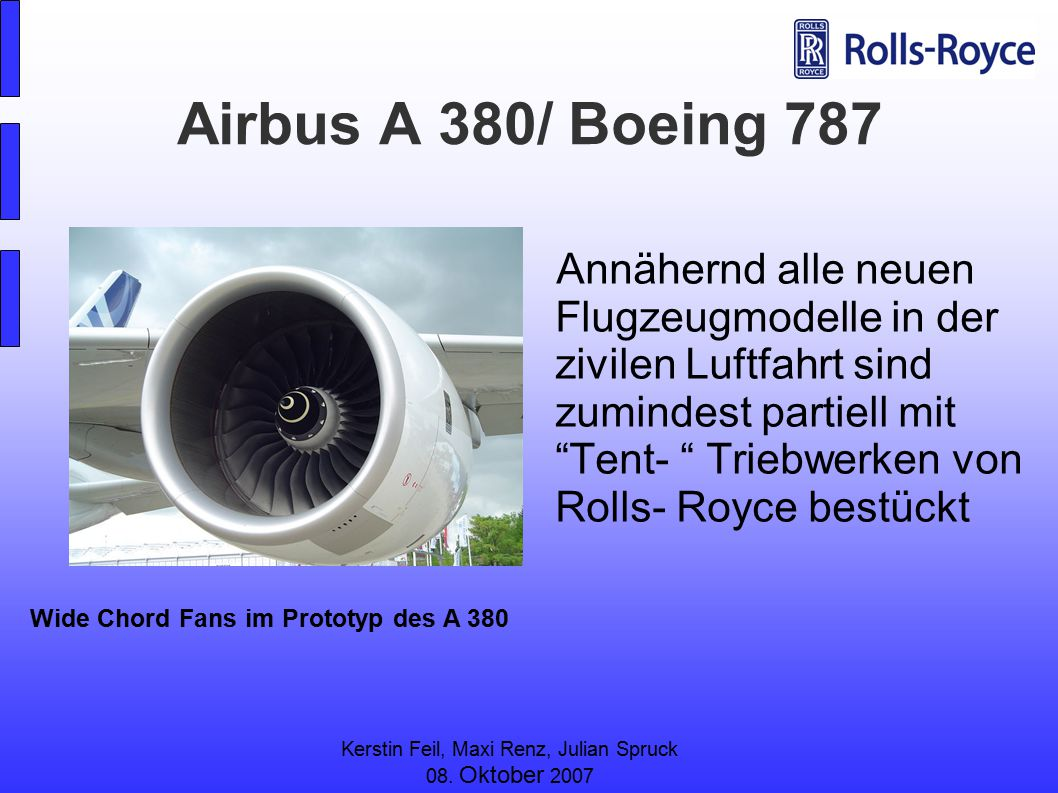 Airbus A 380/ Boeing 787