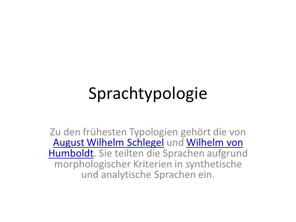 Sprachtypologie