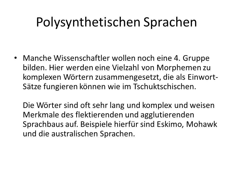 Polysynthetischen Sprachen