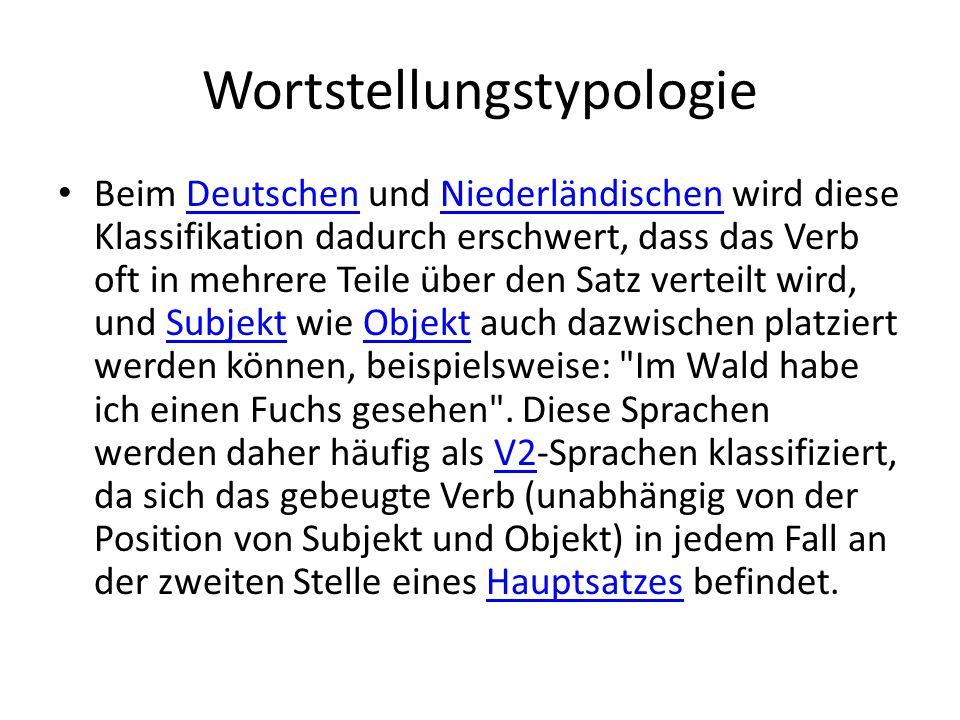 Wortstellungstypologie