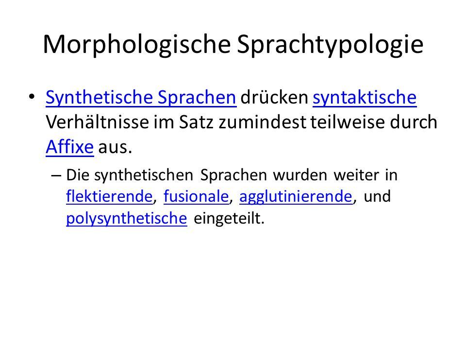 Morphologische Sprachtypologie