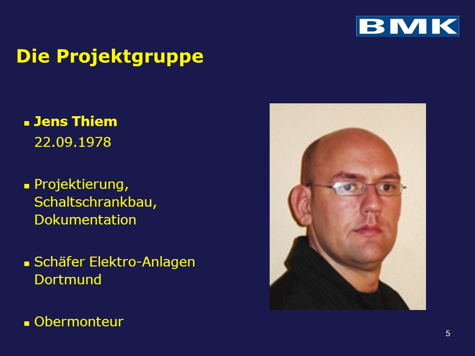Die Projektgruppe Jens Thiem 22.09.1978