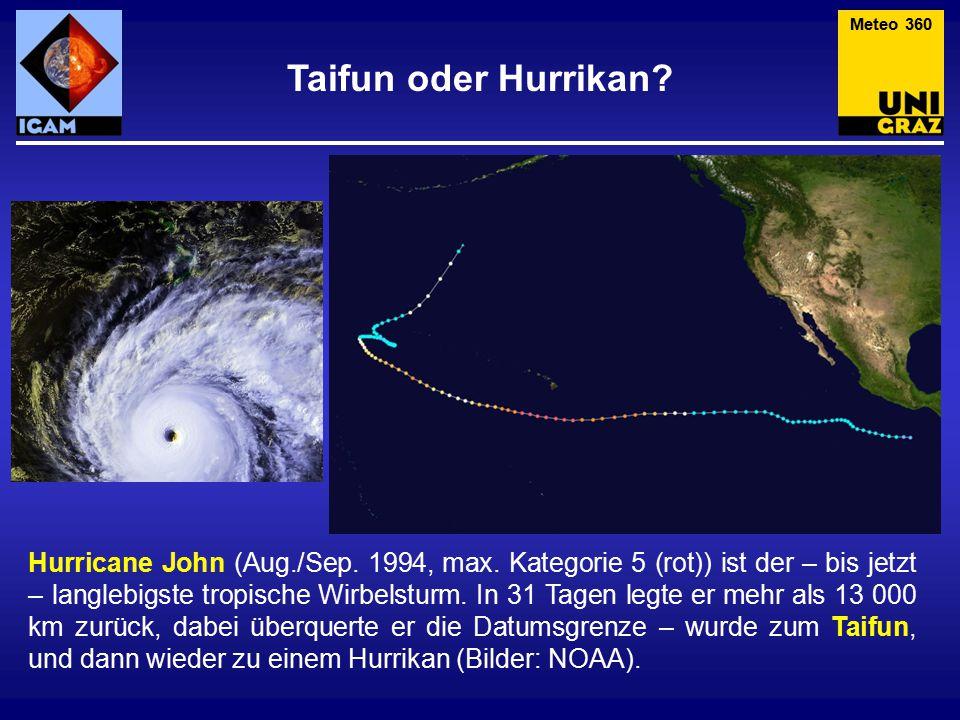 Meteo 360 Taifun oder Hurrikan